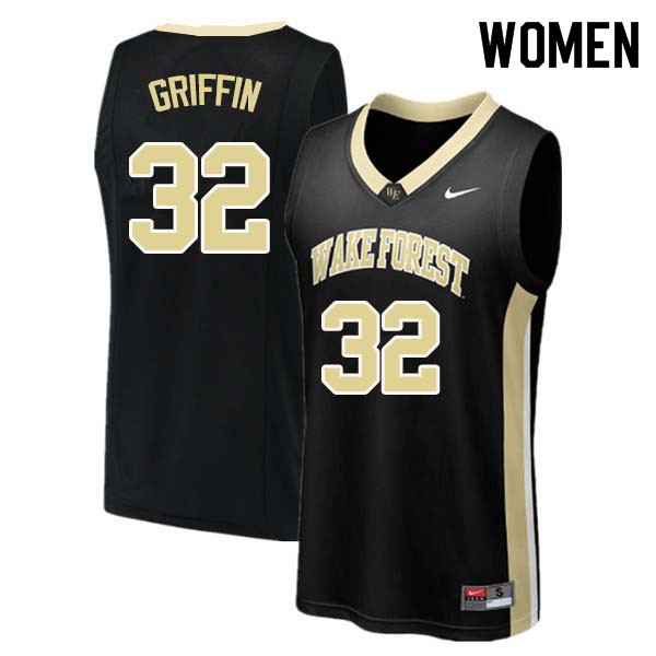 Women #32 Rod Griffin Wake Forest Demon Deacons College Basketball Jerseys Sale-Black